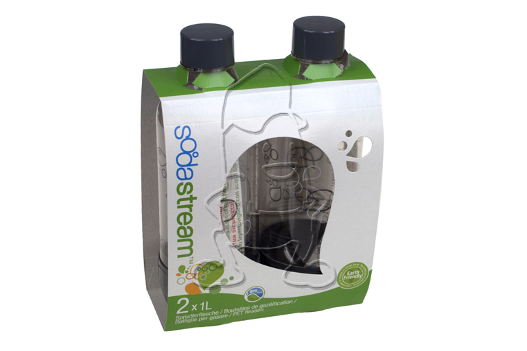 Soda Club Duo Pack Flessen Grijs 1L Sodastream 1041244310