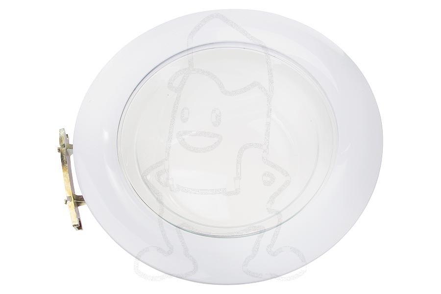 Image of Deur (Compleet glas -wit-) wasmachine 91670645