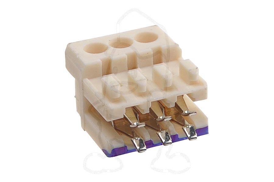 Image of Miele aansluitblokje (stekkerhuis 3 polig) wasmachine 7974030