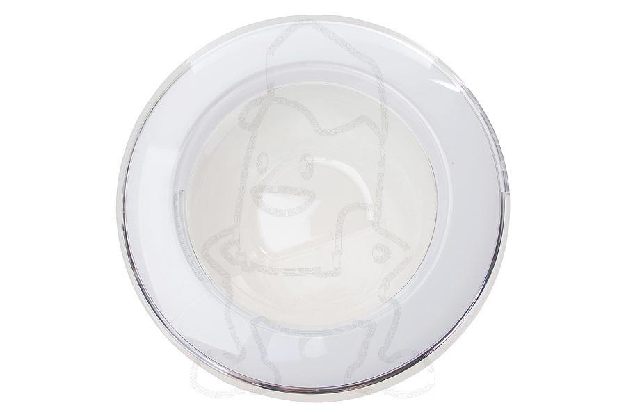 Image of Samsung vuldeur (compleet, wit/transparant, schuin glas) wasmachine dc9717333a