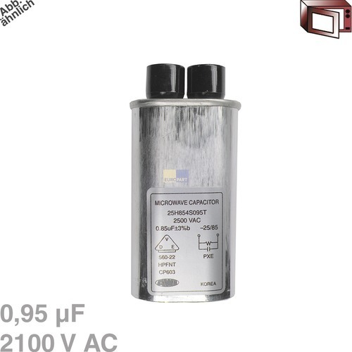 Image of Condensator 0,95µF 2100VAC magnetron 426003