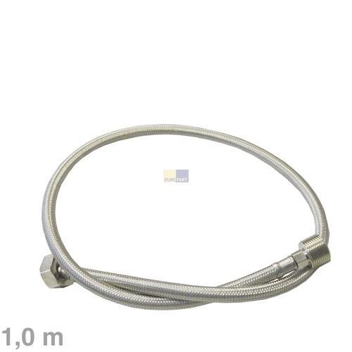 Image of Aanvoerslang verlenging recht/recht 1.0m 90°C RVS voor wasmachine 10006053