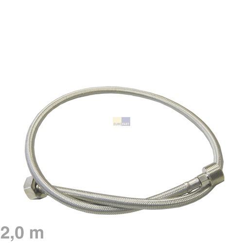 Image of Aanvoerslang verlenging recht/recht 2.0m 90°C RVS voor wasmachine 10006054