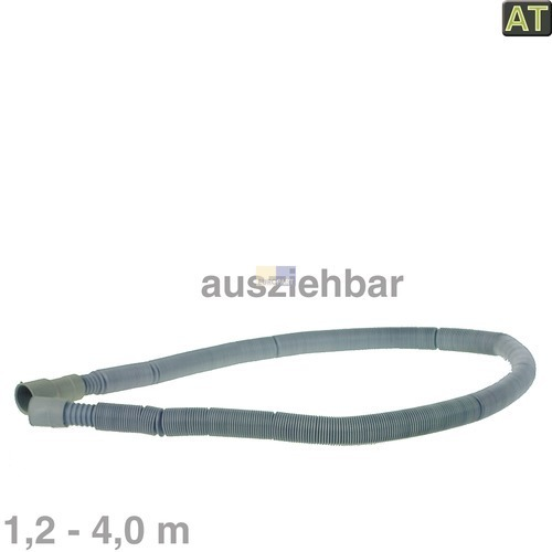 Image of Afvoerslang 1,2-4,0m Uitrekbaar 19/21/28 mm Ø wasmachine 10006471