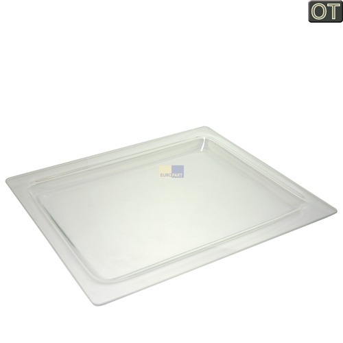 Image of Bakplaat Glas 28mm hoog, 405 x 360 mm oven 10007596