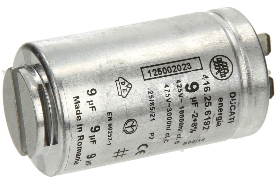 Condensator (9 uf Aanloopcondensator) wasdroger 1250020227