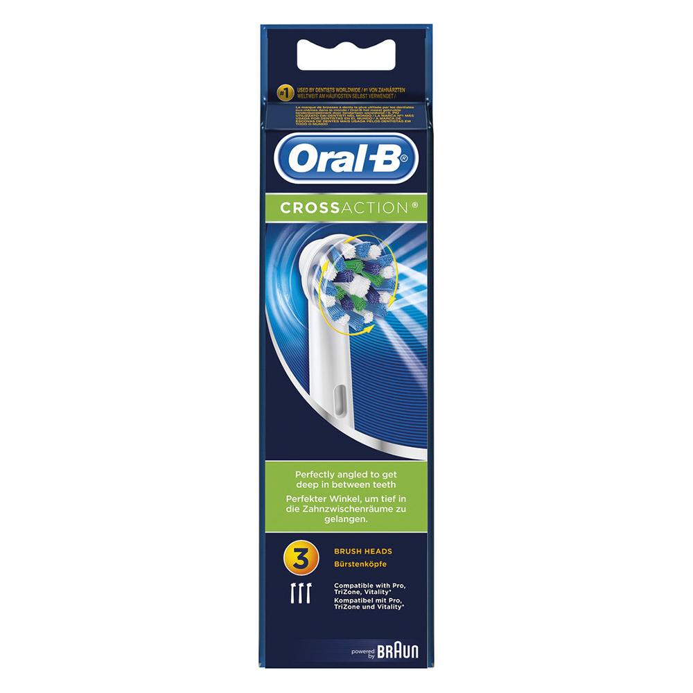 Image of Braun Oral-B Opsteekborstels Cross Action 3-pak