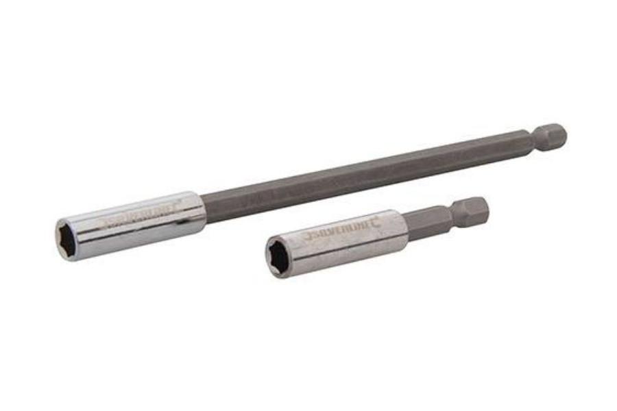 Silverline 2-delige magnetische schroevendraaier bithouder set voor schroefboormachine 436745