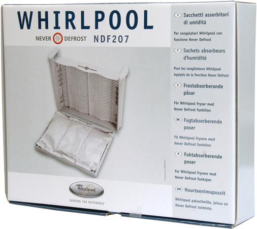 Vochtabsorbeerder Voor Vriezer Whirlpool (3 Zakjes) Diepvries 481281719244, Ndf207