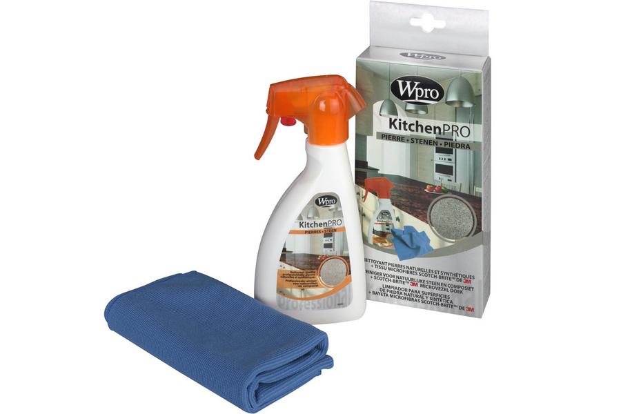 WPRO kitchen pro reiniger (natuur)steen + 3m microvezeldoek schoonmaak 484000000685, kst251