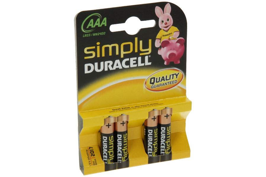 Duracell batterijen AAA (4 stuks)