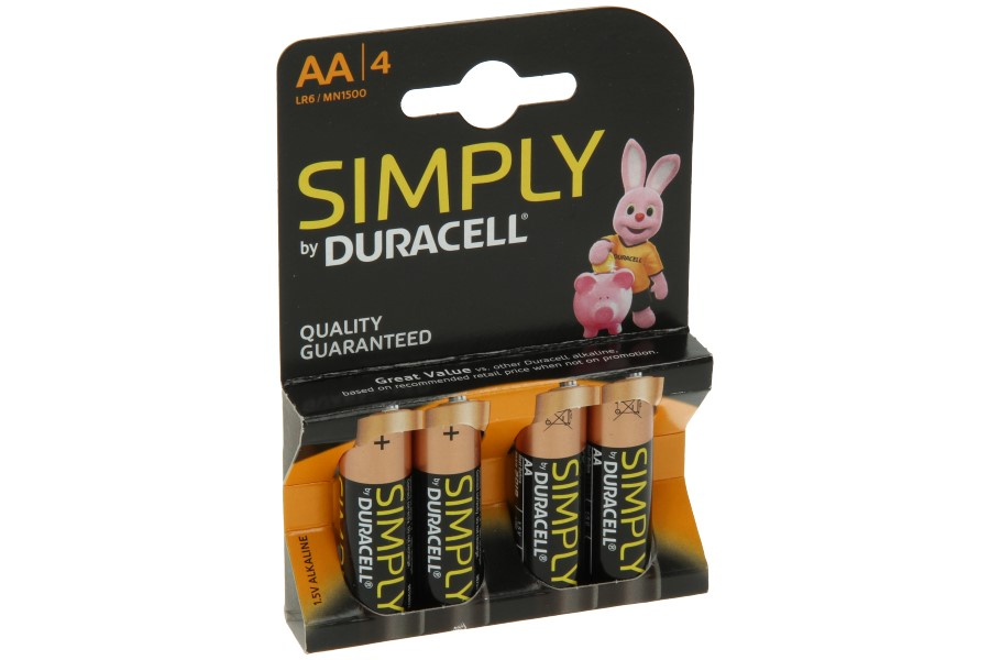 Duracell batterijen AA (4 stuks)