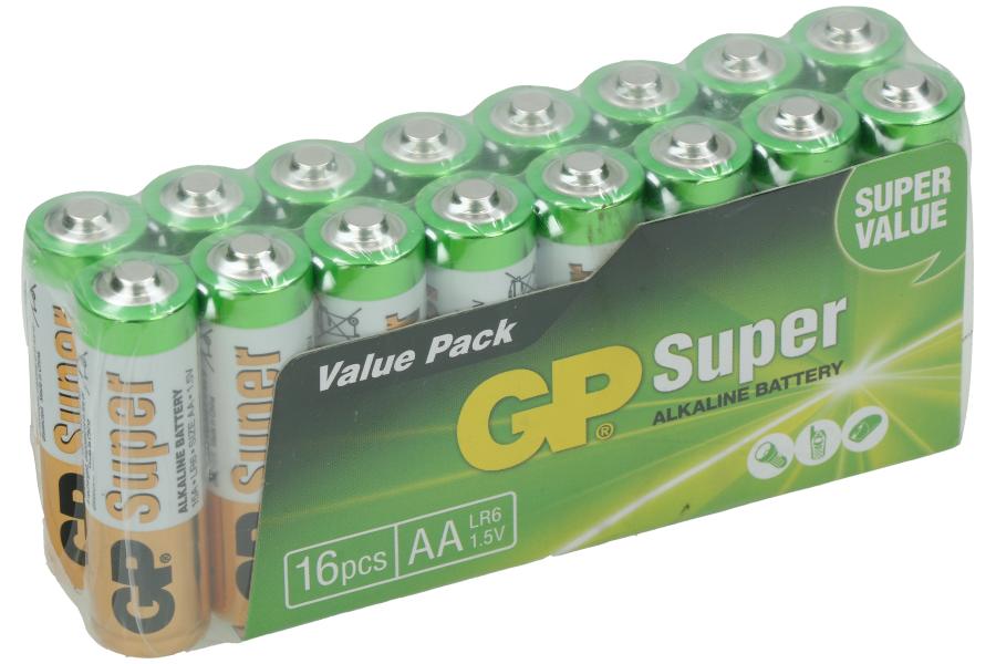 GP batterijen (AA) - 16 stuks
