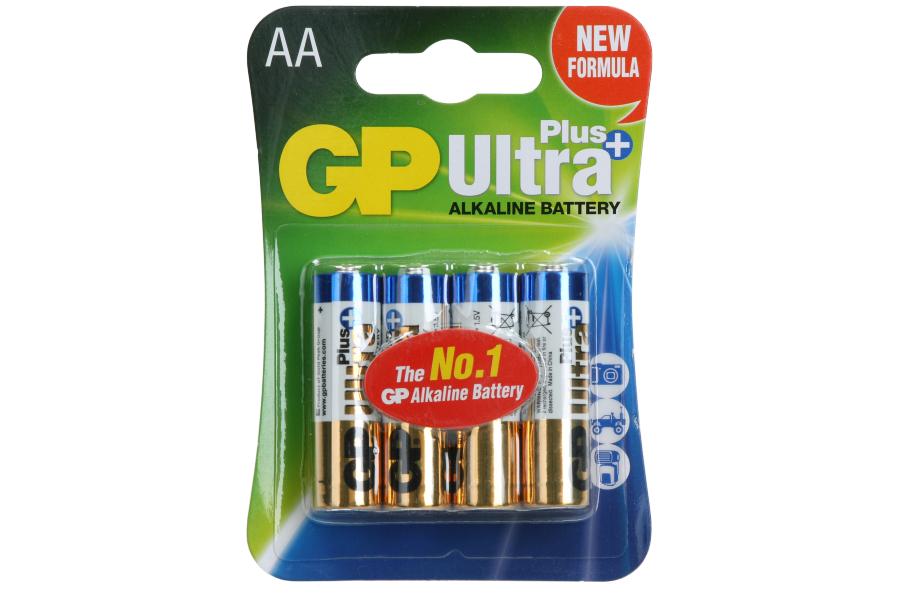 Gp Batterij AA - Verpakking van 4 Stuks - Alkaline 1.5 Volt