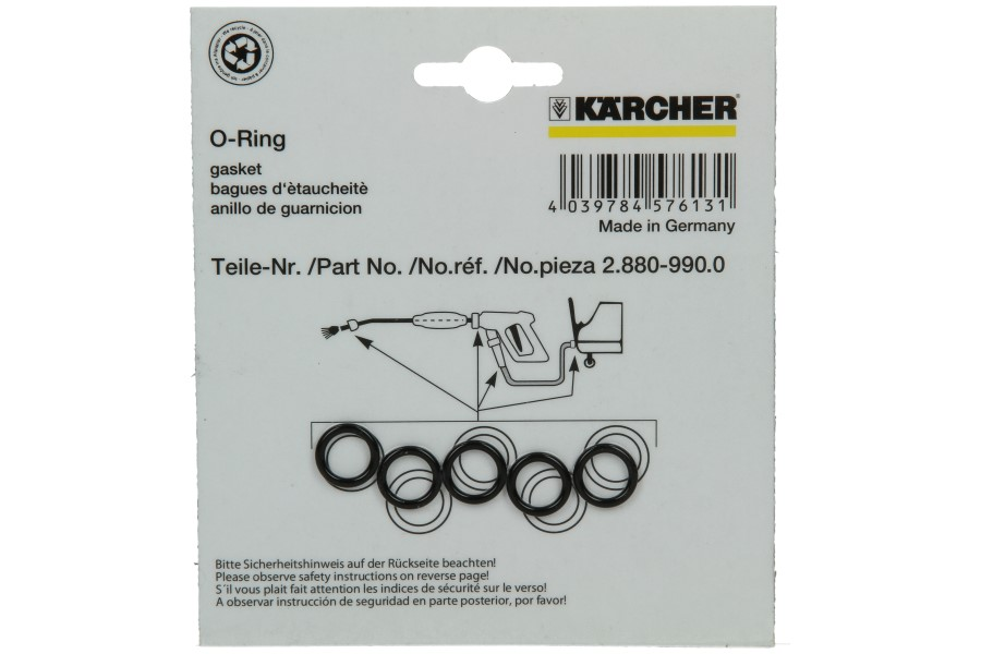K�rcher o-ring (set) hogedrukreiniger 2.880-990.0, 28809900