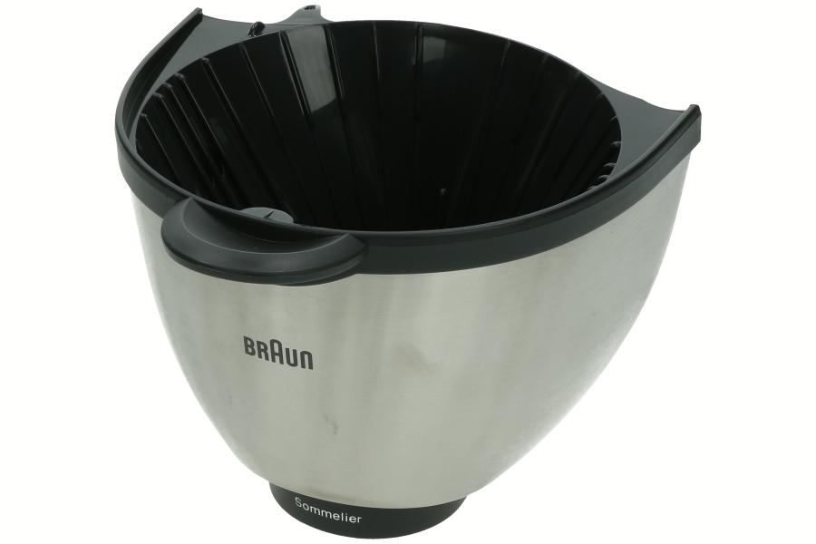 Image of Braun filterbak (koffiezetapp metaal/zwart) br67051395