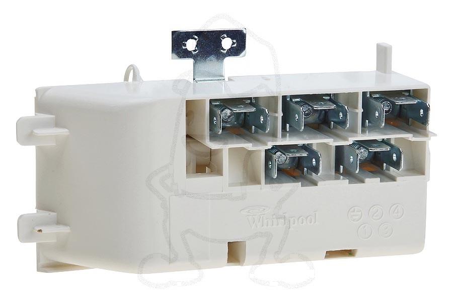 Image of Aansluitblok (van kookplaat) fornuis 481229068293
