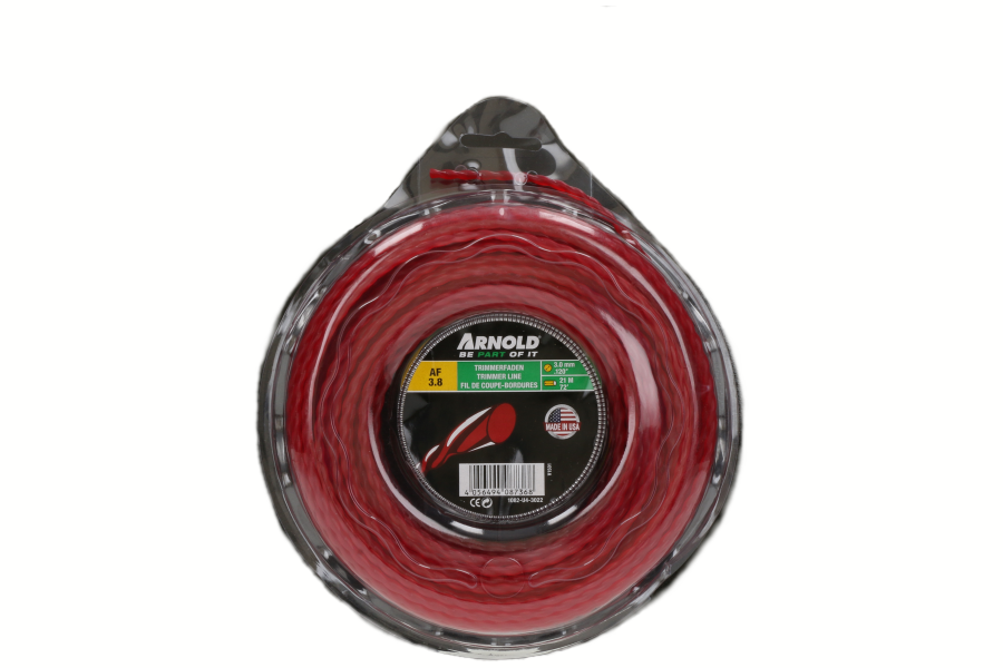 Trimmerdraad (AF 3.8, 3.0mm x 21.9m, rood, rond, gedraaid) voor grastrimmer 1082-U4-3022