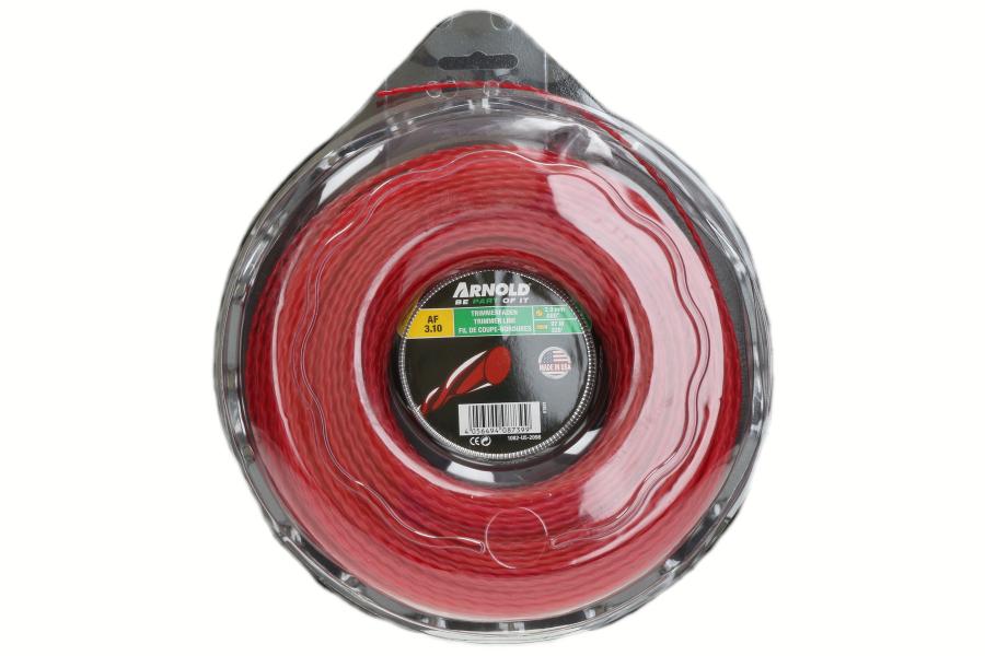 Trimmerdraad (AF 3.10, 2.0mm x 97.5m, rood, rond, gedraaid) voor grastrimmer 1082-U5-2098