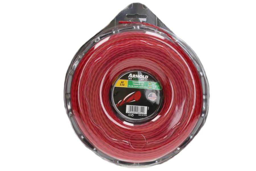 Trimmerdraad (AF 3.12, 2.7mm x 56.4m, rood, rond, gedraaid) voor grastrimmer 1082-U5-2756