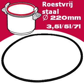 Afdichtingsrubber 22cm 3/5/7 Liter 090.003.0100.07