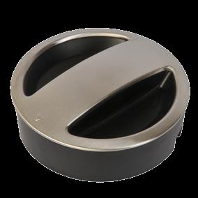 Deksel zwart inox MS-621390
