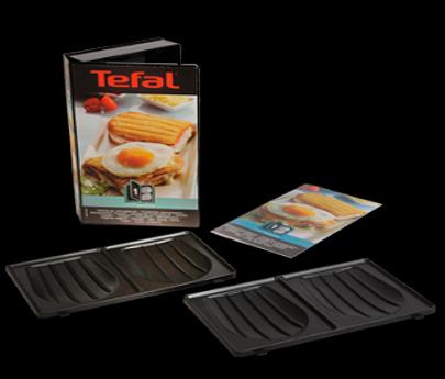Set tostiplaten schelpvorm voor tosti-maker XA800112