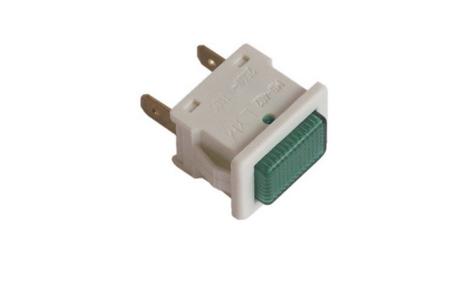 Lampje (controle -groen-) koelkast 481913448298
