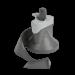Tefal Actifry mengschoep (roerblad, draaiarm, schoep) voor o.a. Original, serie 001 heteluchtfriteuse XA900302